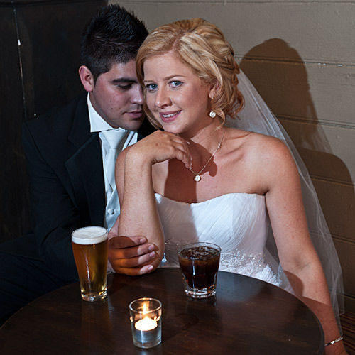 Melbourne Wedding Photography of a couple in a bar