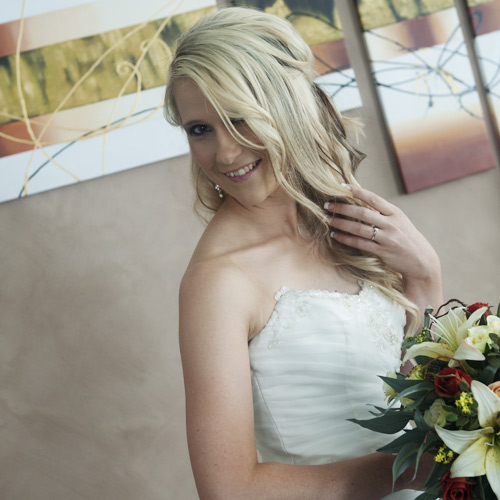 Artistic wedding photo of a bride melbourne