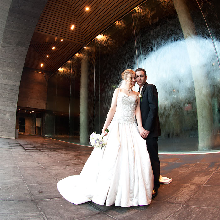 National Gallery forecourt wedding photography melbourne.