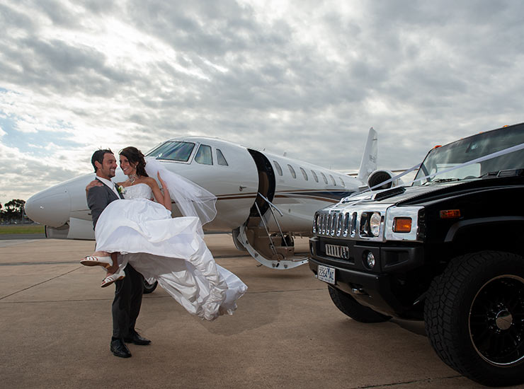 private jet for wedding photos in Melbourne
