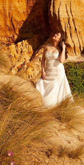 Beach-side wedding photography