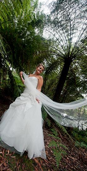 melbourne forest bridal portrait photography